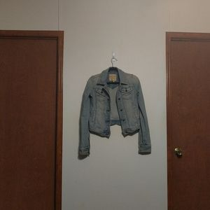 Abercrombie & Fitch Light Wash Distressed Jacket